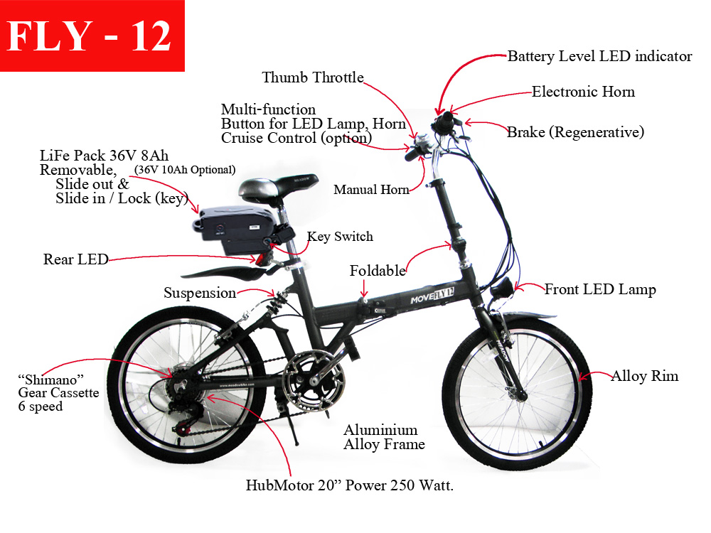 Foldable E Bike Fly 12