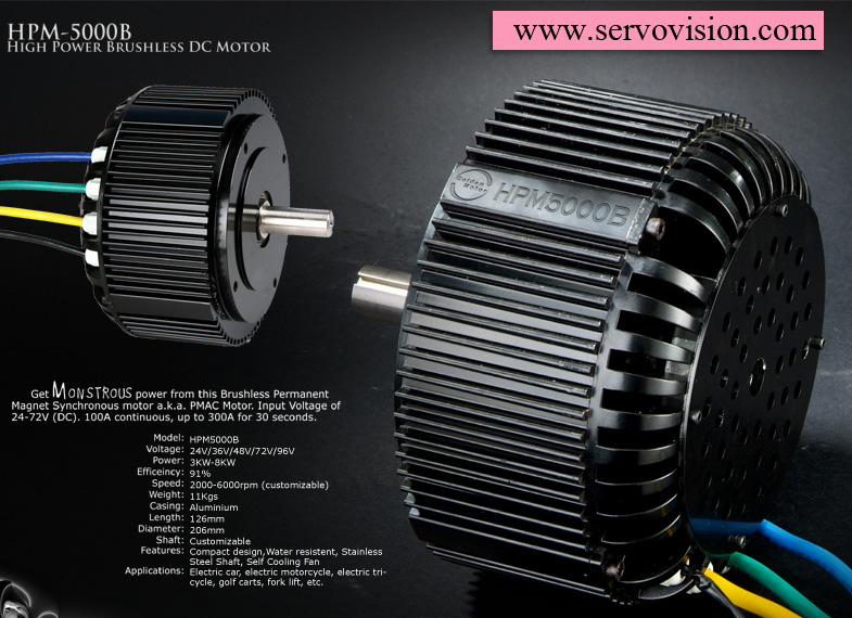 Electric Motor For Scooter 48v 72v 5kw Air Cooling